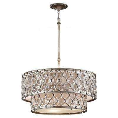 Lucia 6-Light Burnished Silver Large Pendant