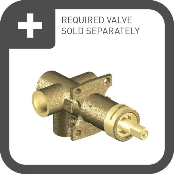 Moen Weymouth Single Handle Transfer Valve Trim Kit In Brushed Nickel Valve Not Included Ts32205bn The Home Depot