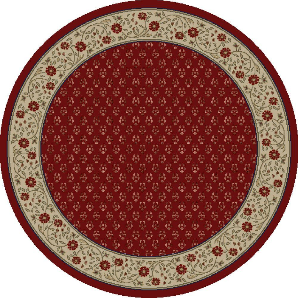 Jewel Harmony Red 5 ft. 3 in. Round Area Rug