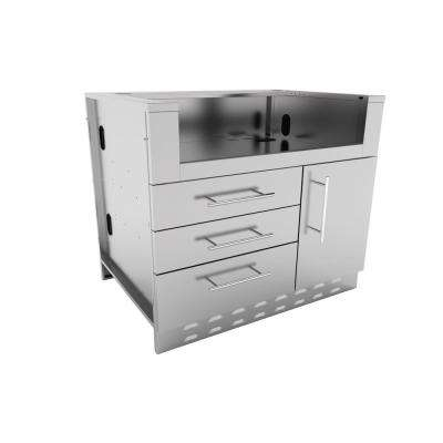 Designer Series 304 Stainless Steel 40 in. x 34.5 in. x 28.25 in. Drop in Gas Grill Base Cabinet