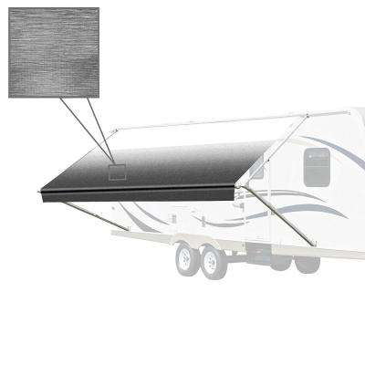 10 ft. RV Retractable Awning (96 in. Projection) in Black and White