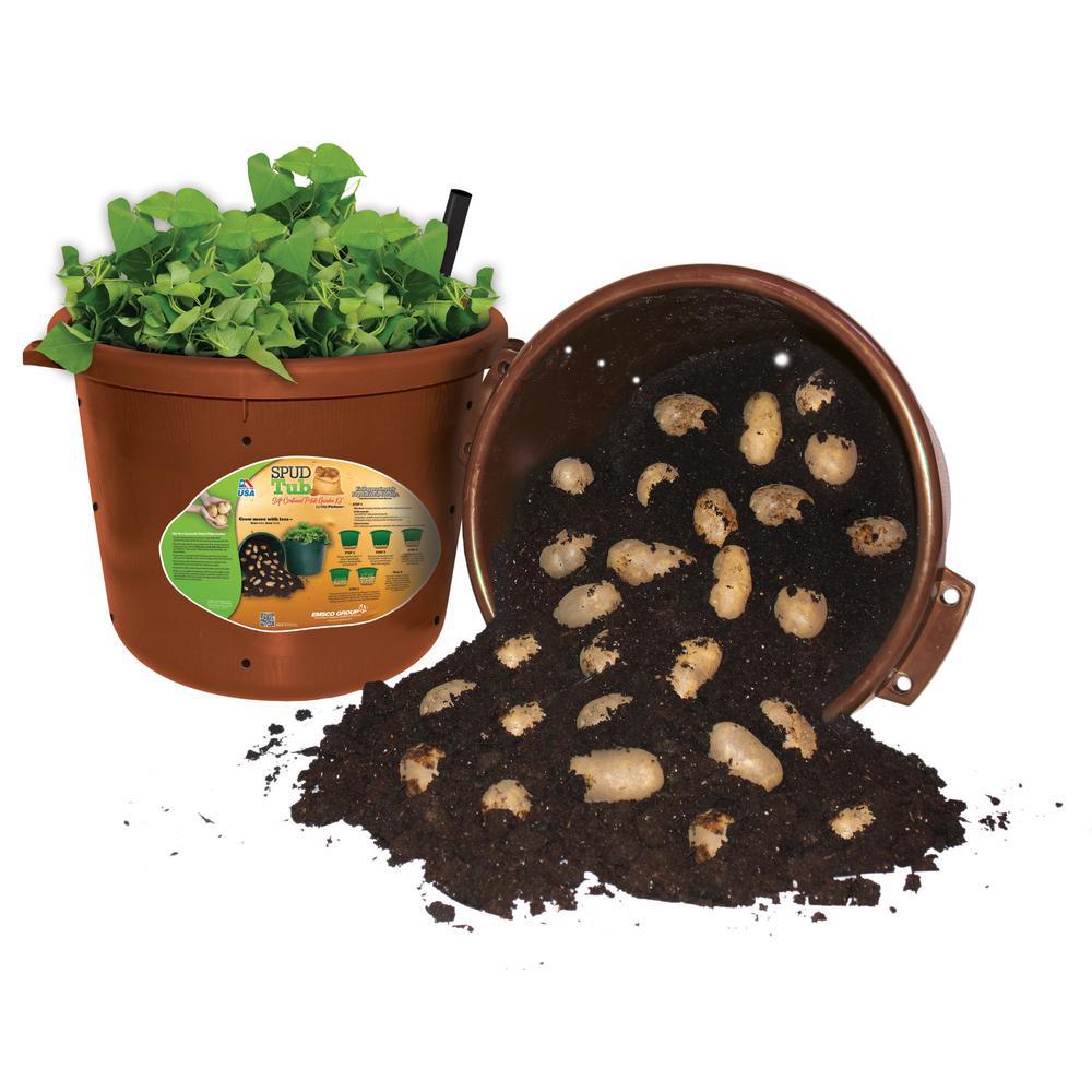 Emsco City Pickers Spud Tub 17 5 Gal Garden Potato Planter In Terra