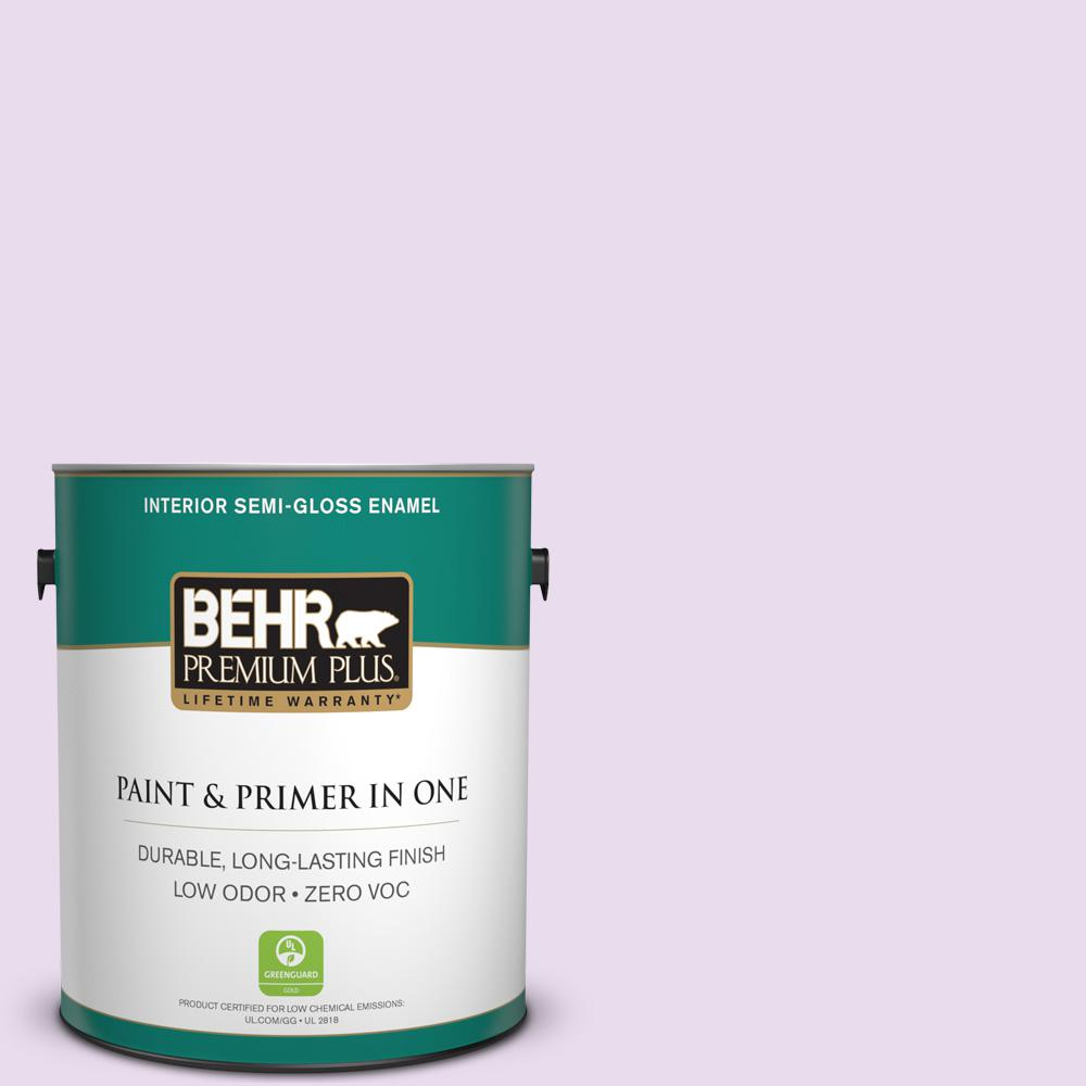 BEHR Premium Plus 1-gal. #P100-1 Sprinkle Semi-Gloss Enamel Interior Paint