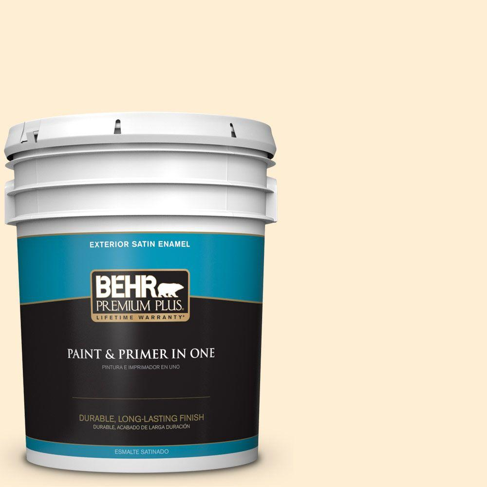 5-gal. #M270-1 Pearly White Satin Enamel Exterior Paint