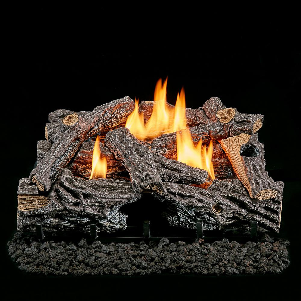 Lost River 24 In Vent Free Dual Fuel Gas Log Set Split Bark
