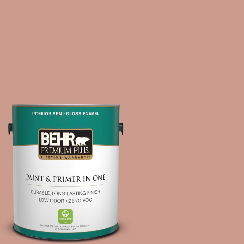 BEHR Premium Plus 1-gal. #210F-5 Artifact Zero VOC Semi-Gloss Enamel Interior Paint