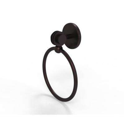Satellite Orbit Two Collection Towel Ring with Dotted Accent in Antique Bronze