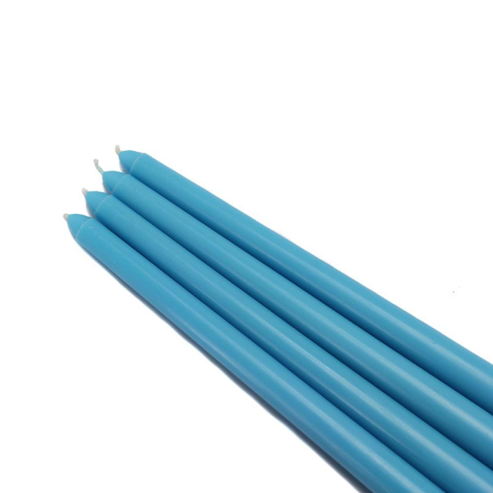 Zest Candle 12 in. Turquoise Taper Candles (12-Set)