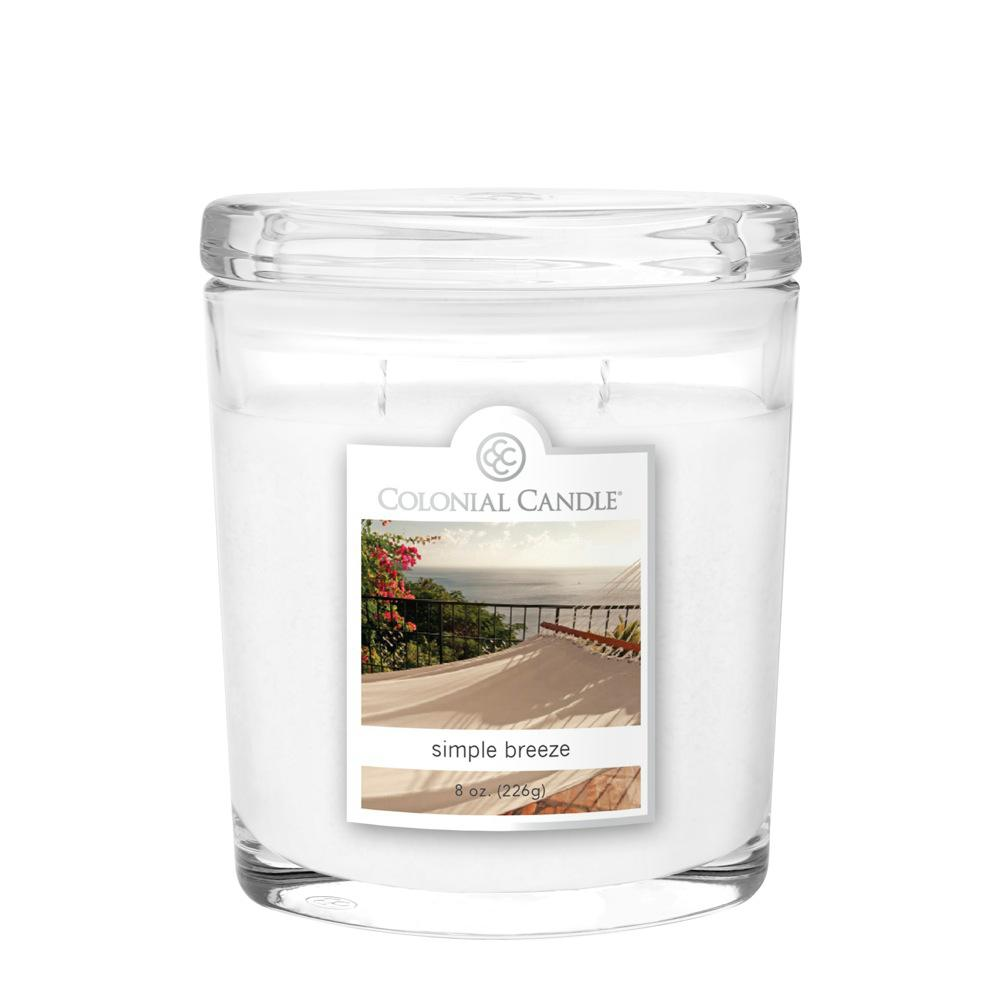 8 oz. Simple Breeze Oval Jar Candle