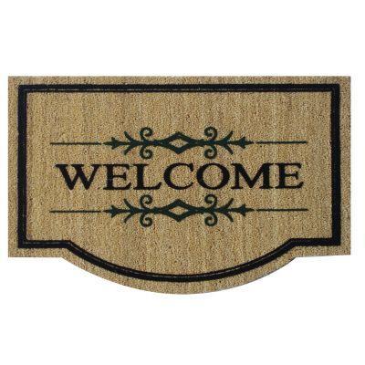 Perfect Home Meridian Welcome Coir/Vinyl 21.5 in. X 33.5 in. Door mat-DISCONTINUED