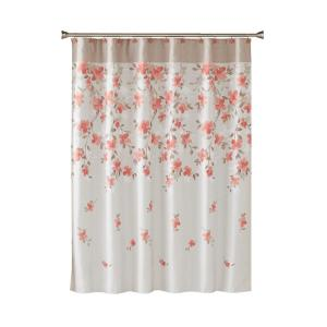 Internet 302628677 Saturday Knight Coral Garden Floral 72 In Polyester Shower Curtain