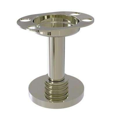 Vanity Top Tumbler and Toothbrush Holder with Dotted Accents in Polished Nickel