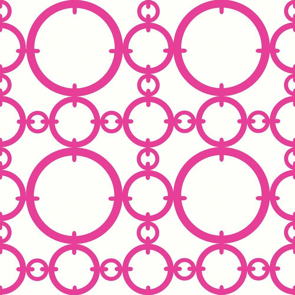 The Wallpaper Company 8 in. x 10 in. Line Lattice Positive Fuschia Wallpaper Sample