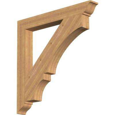 5.5 in. x 48 in. x 48 in. Western Red Cedar Balboa Traditional Smooth Bracket
