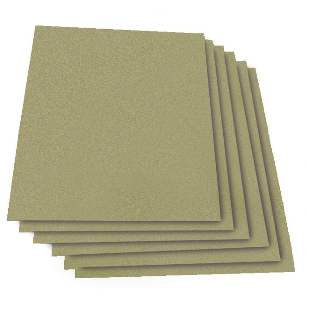 """Norton Super-Fine Wet 5 Pack Dry Sandpaper Sheets 9/"""" X 11/"""" X 1200 Grit"""