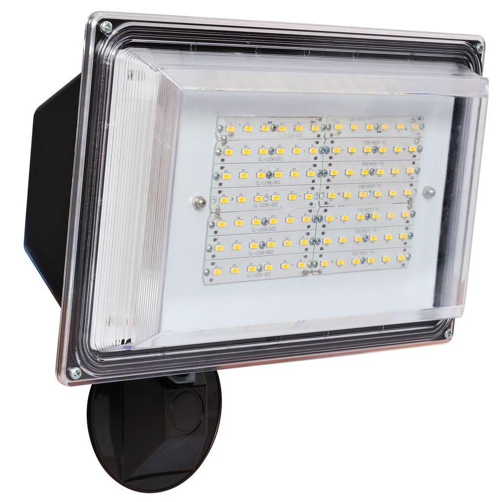 Industrial Outdoor Led Lighting: Amax Lighting 180 Degree Bronze Outdoor Integrated LED