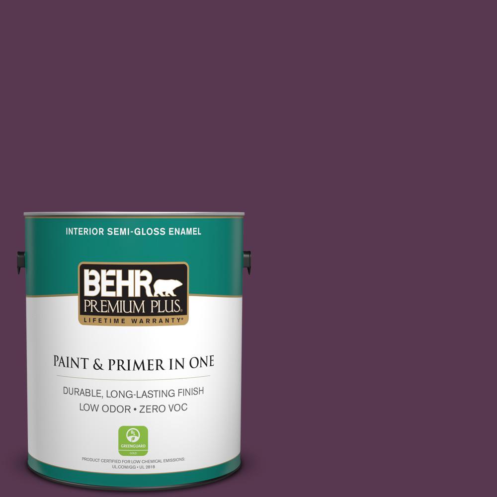 1 gal. #PPU17-03 Vixen Zero VOC Semi-Gloss Enamel Interior Paint