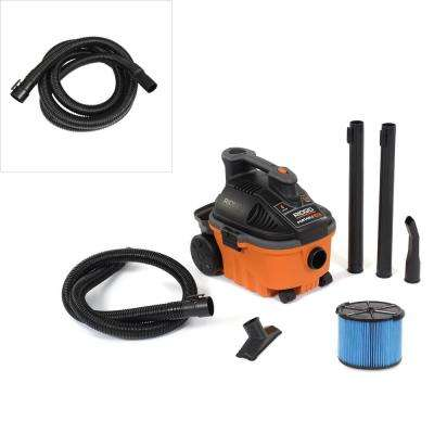 4 Gal. 5.0-Peak HP Wet Dry Vac with Bonus 14 ft. Tug-A-Long Hose