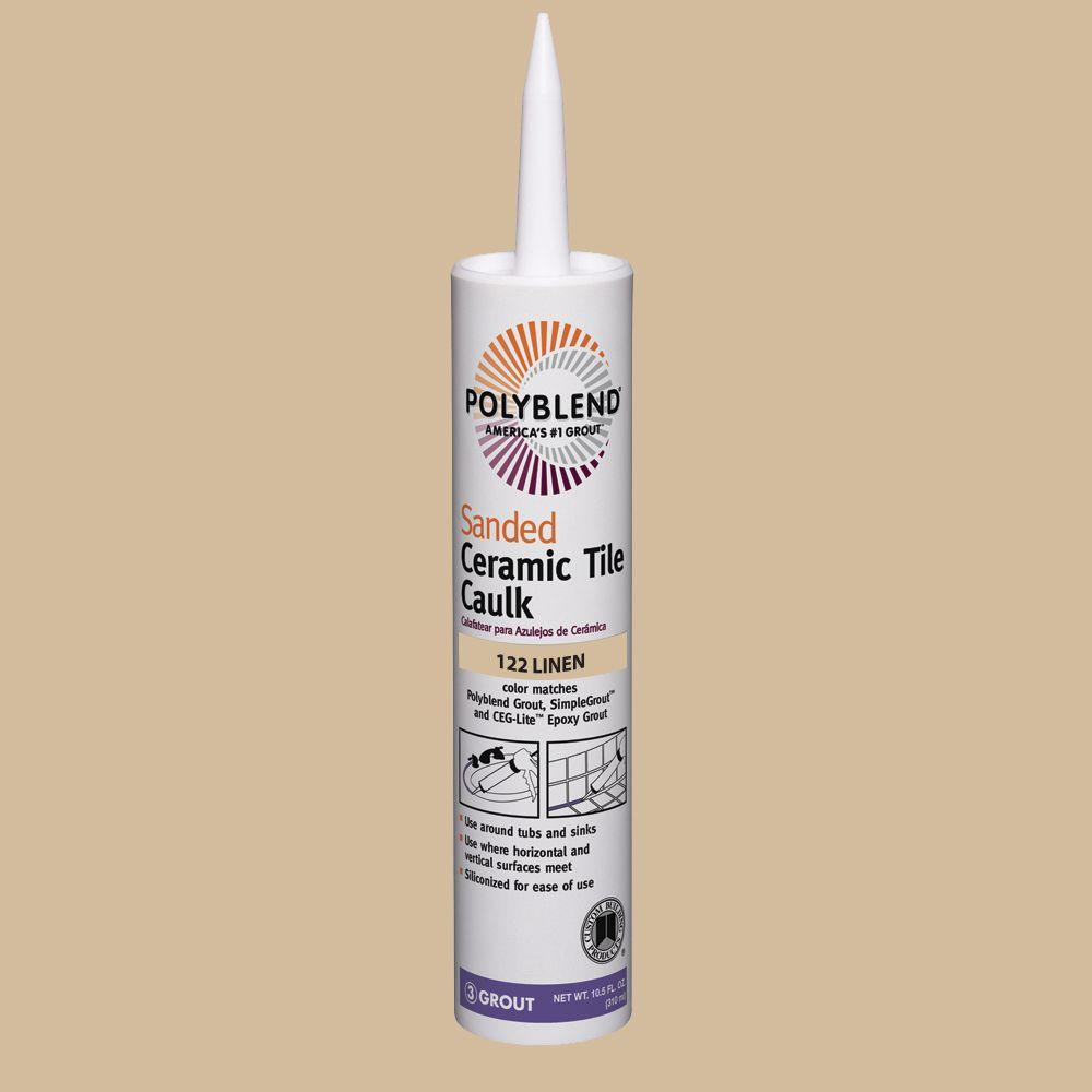 Custom Building Products Polyblend 122 Linen 10 5 Oz Sanded Ceramic Tile Caulk