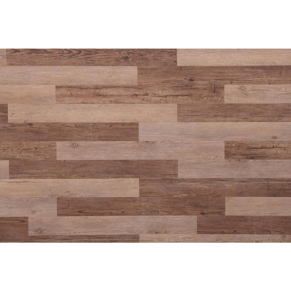 E Z Wall Barnwood 4 In X 3 Ft Peel And Press Vinyl Plank Wall