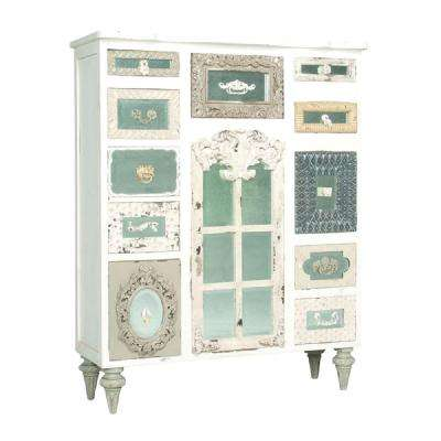 Garden Lattice White 11-Drawer Chest