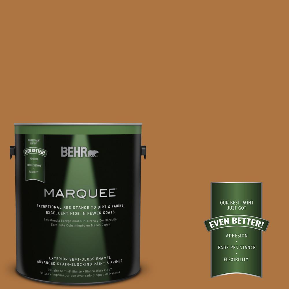 BEHR MARQUEE 1-gal. #M250-7 Blonde Wood Semi-Gloss Enamel Exterior Paint
