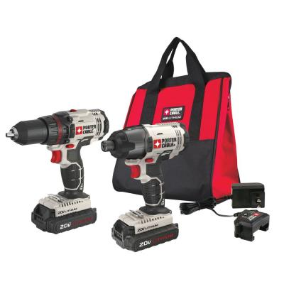 20-Volt MAX Lithium-Ion Cordless Combo Kit with (2) Batteries 1.3 Ah, Charger and Bag