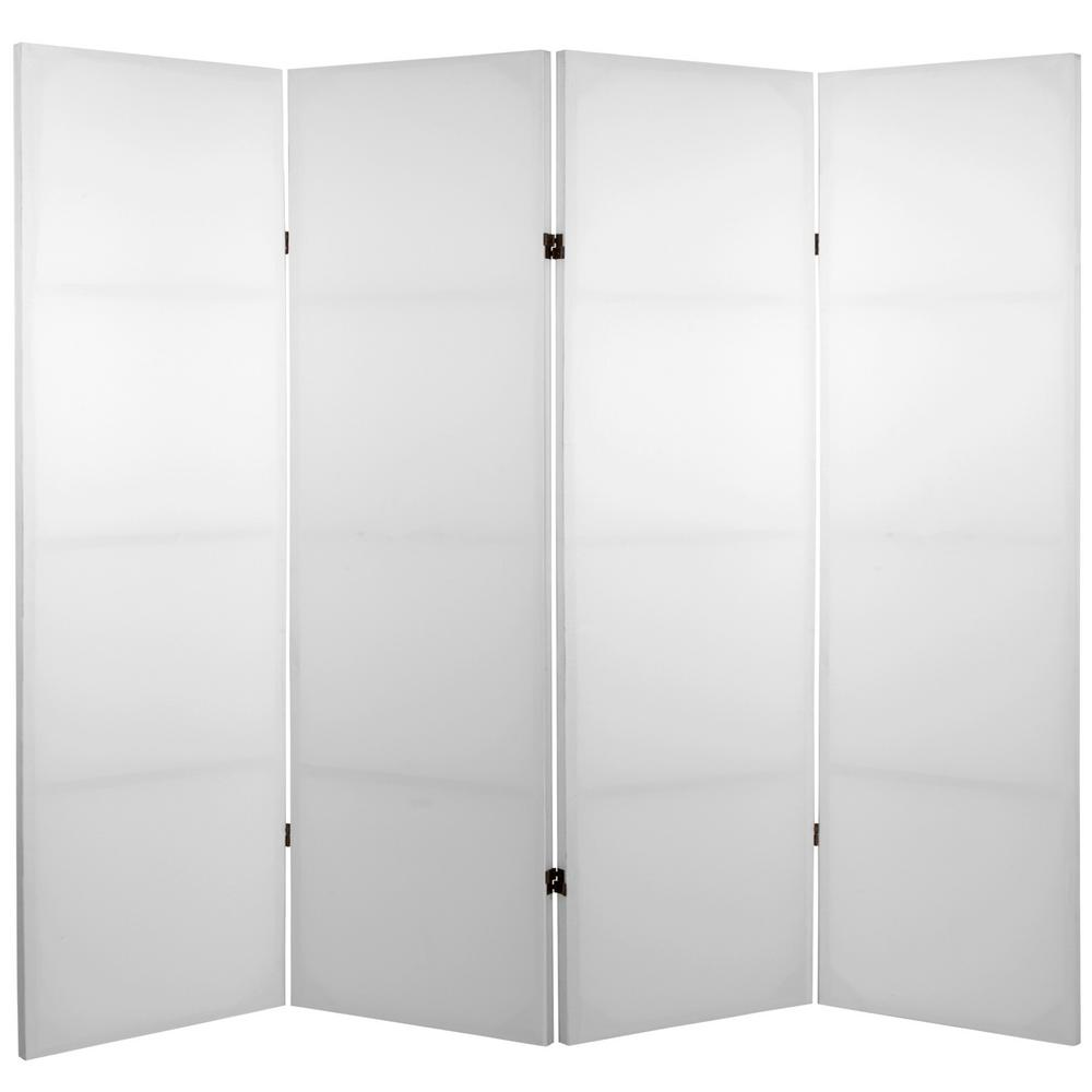 Room Dividers.4 Ft White 4 Panel Blank Canvas Room Divider
