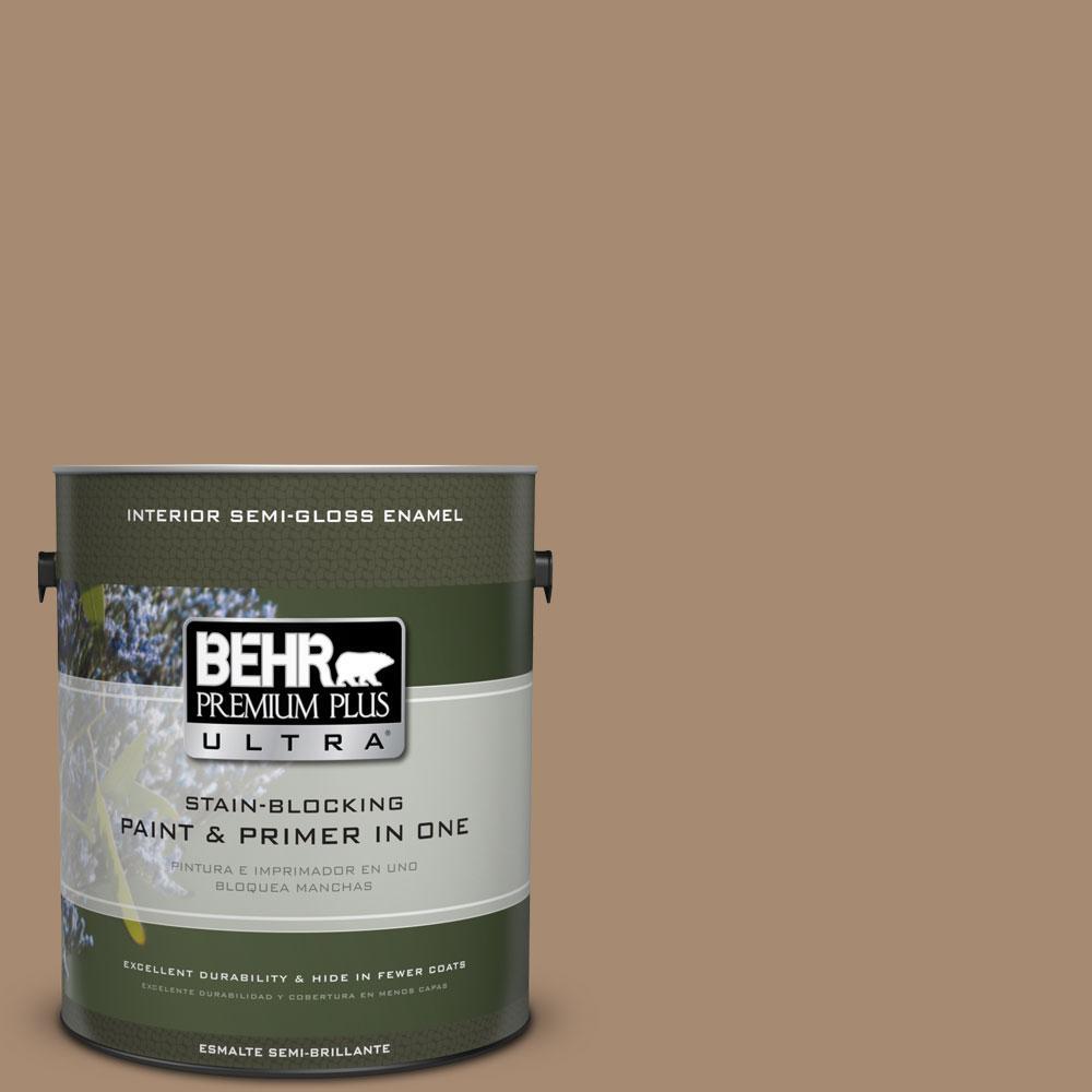BEHR Premium Plus Ultra 1-gal. #N260-5 Distant Land Semi-Gloss Enamel Interior Paint