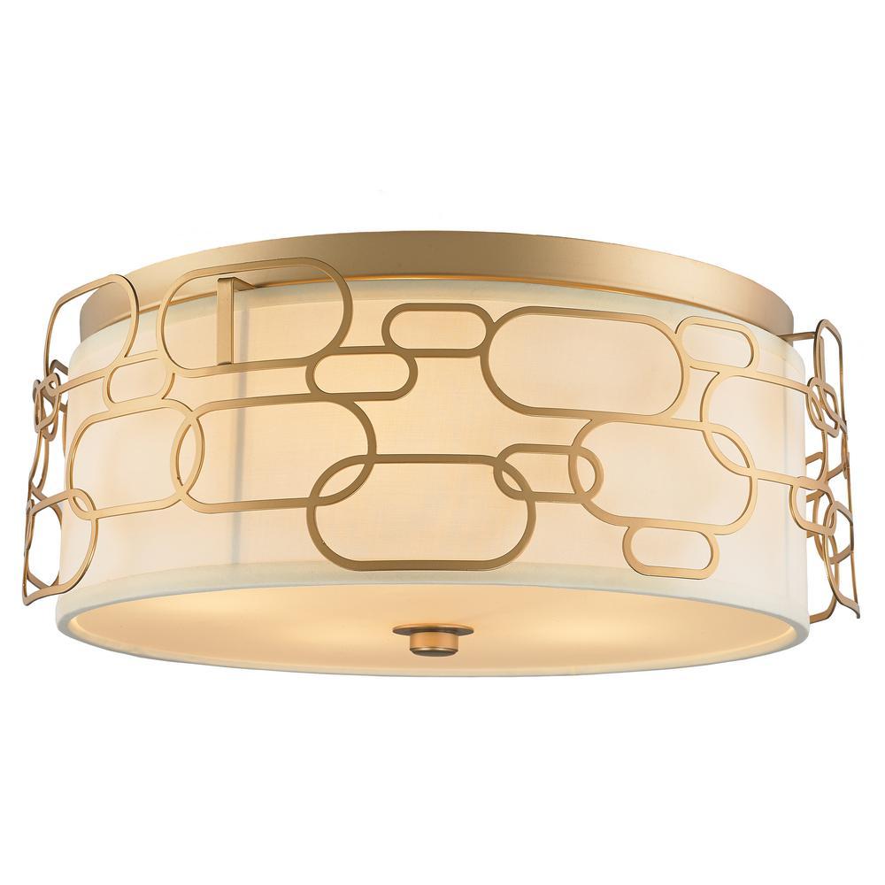 Montauk 5-Light Matte Gold Flushmount