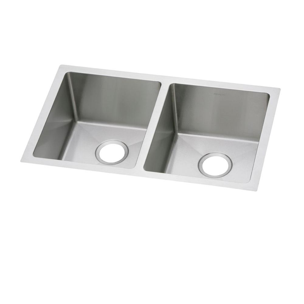 Crosstown Undermount Stainless Steel 31 in. Double Bowl Kitchen Sink