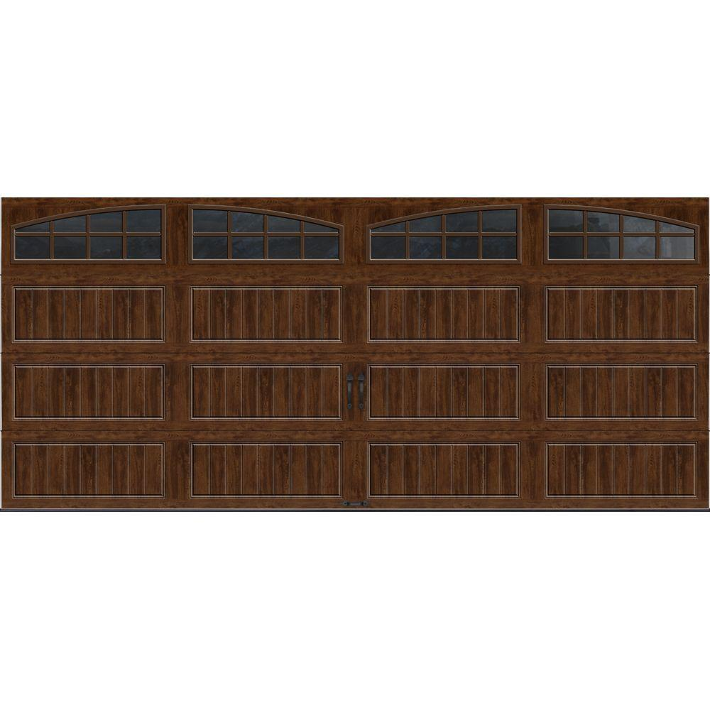 Clopay gallery collection 16 ft x 7 ft 6 5 r value for 18 x7 garage door