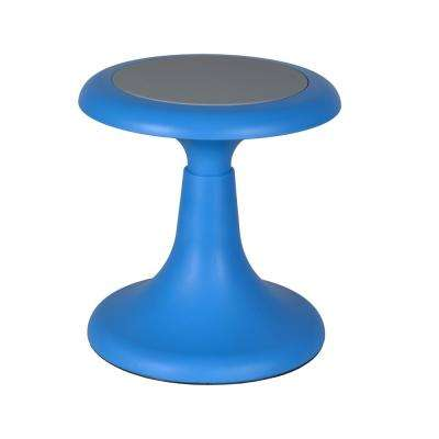 Glow Blue 13 in. Wobble Stool