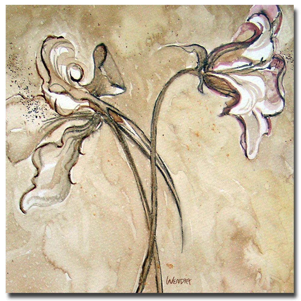 24 in. x 24 in. Flower Talks Canvas Art