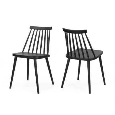 Dunsmuir Black Farmhouse Spindle-Back Dining Chair (Set of 2)