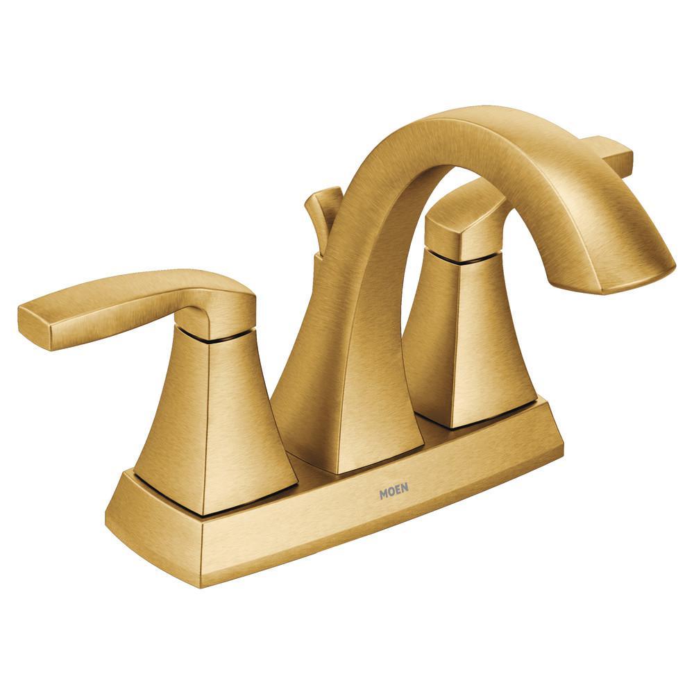 MOEN Voss 4 in. Centerset 2-Handle Bathroom Faucet in Brushed Gold