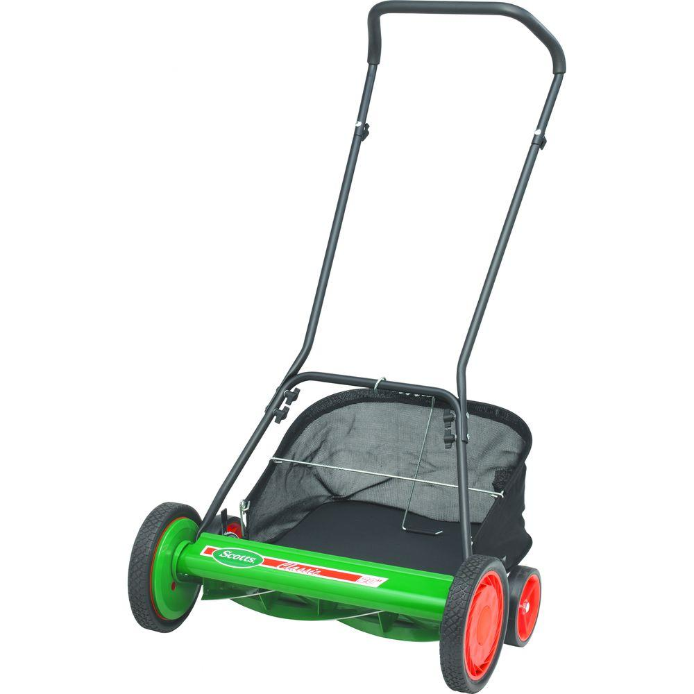 Manual Walk Behind Reel Mower With Grass Catcher