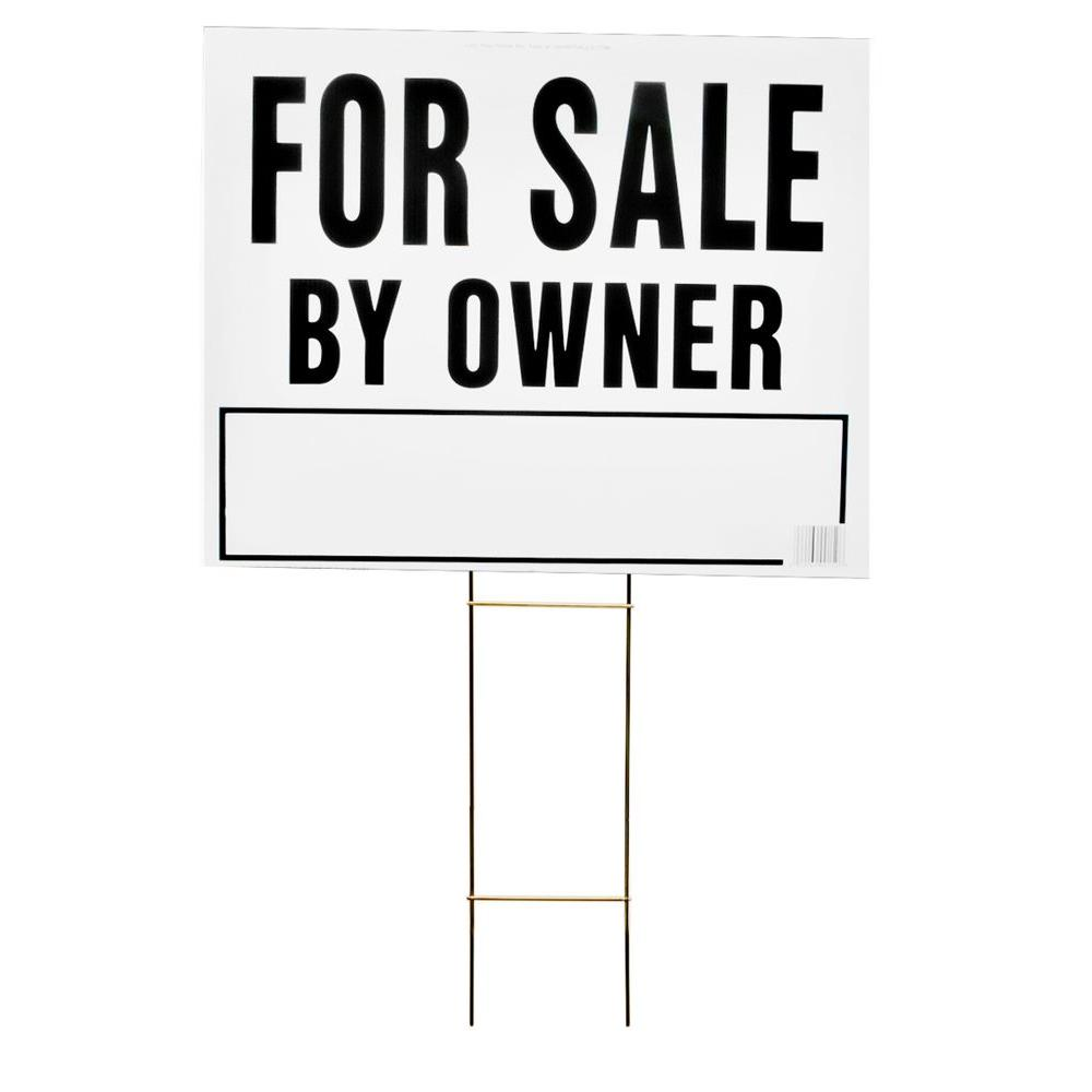 Hy Ko 20 In X 24 In Plastic For Sale By Owner Sign