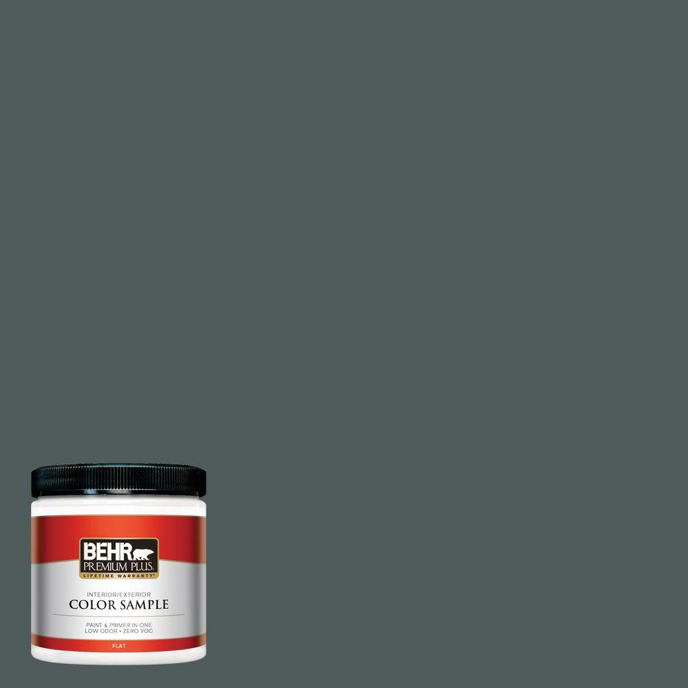 BEHR Premium Plus 8 oz. #N440-7 Midnight in NY Interior/Exterior Paint Sample