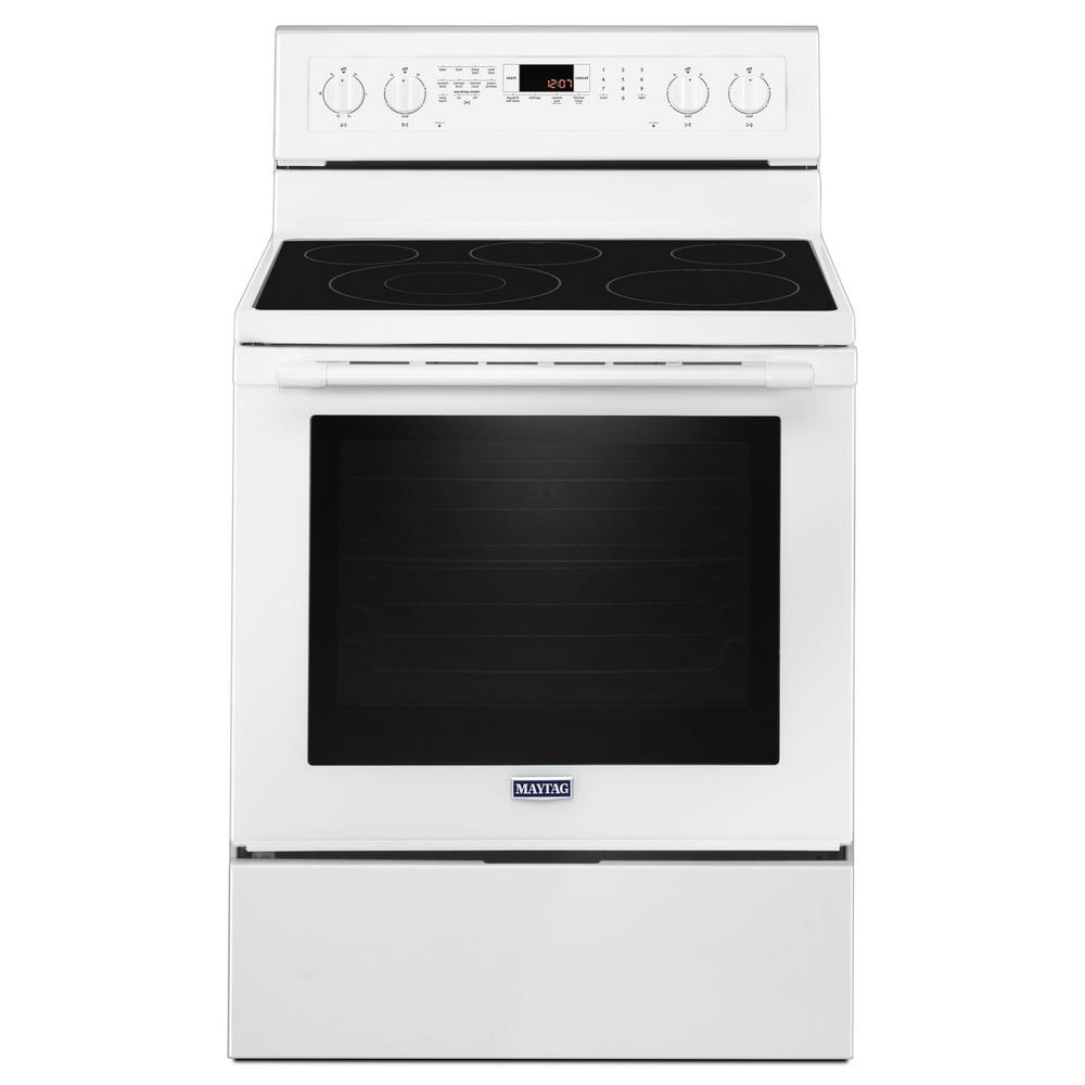 30 in. 6.4 cu. ft. Electric Range with True Convection in