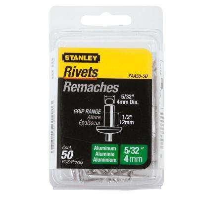 5/32 in. x 1/2 in. Aluminum Grip Rivets (50-Pack)