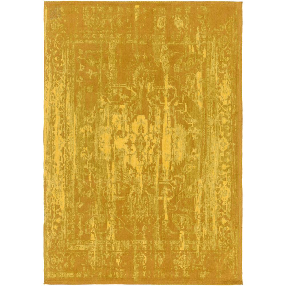 Elegant Maya Gold 5 ft. x 8 ft. Indoor Area Rug