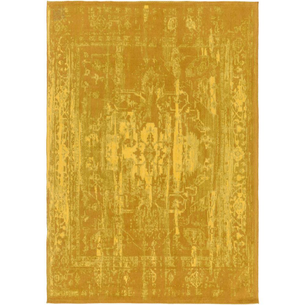 Elegant Maya Gold 5 ft. x 8 ft. Indoor Area Rug