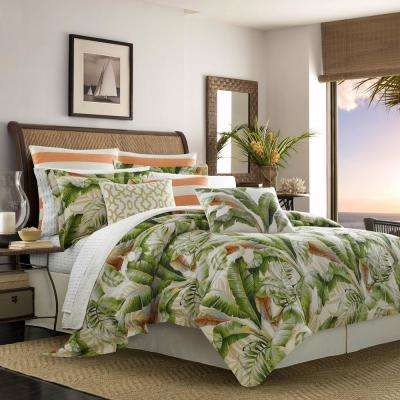 Palmiers 4-Piece Green King Comforter Set