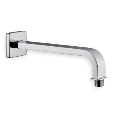 Modern 10 in. Brass Square Shower Arm in Chrome