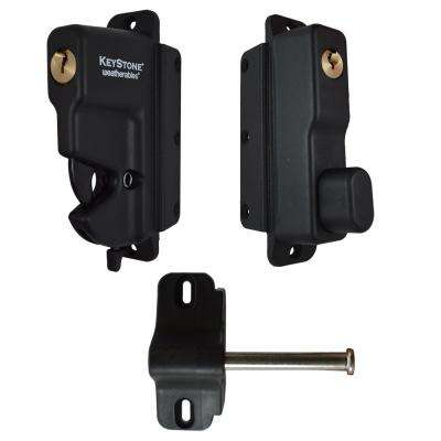 Keystone Black Nylon Polymer 2-Sided Key-Lockable Gate Latch