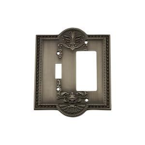 Nostalgic Warehouse Meadows Switch Plate with Toggle and Rocker in Antique... by Nostalgic Warehouse