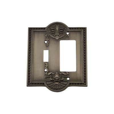 Meadows Switch Plate with Toggle and Rocker in Antique Pewter