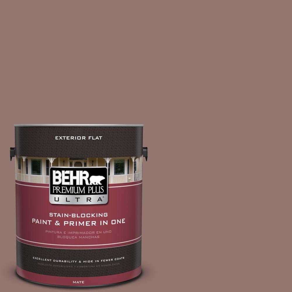 1-gal. #710B-5 Milk Chocolate Flat Exterior Paint