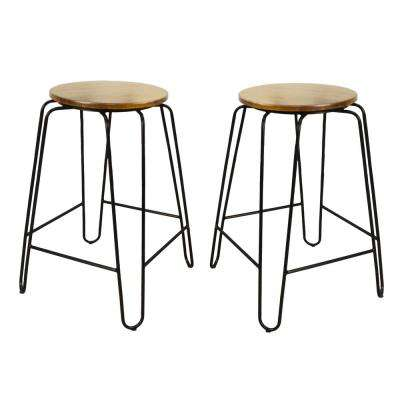 Ethan 24 in. Maple Stacking Stool (Set of 2)